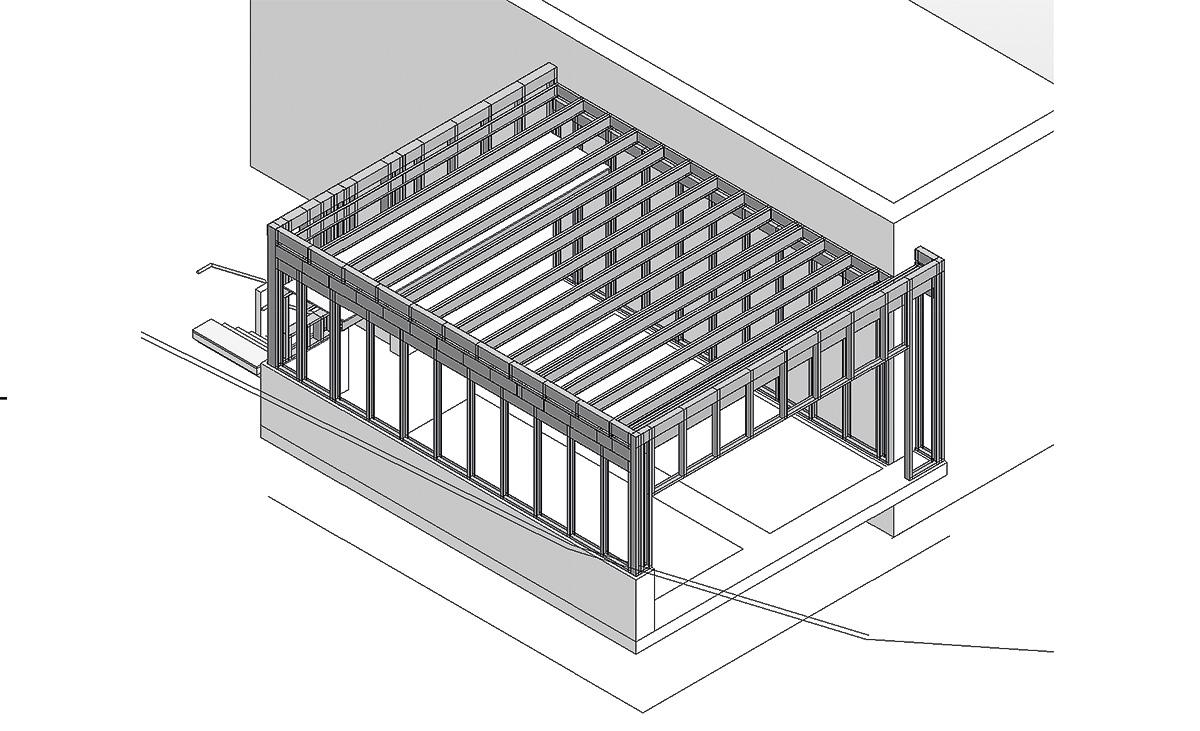 Individualgarage in der Planung mit Protektor Stahlleichtbau edificio