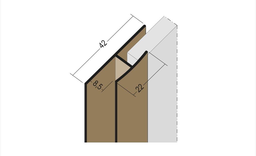 Protektor Fugen-H-Profil Nr. 3559 für Fassadenplatten bis 8,5 mm in neuer Breite für perfekte Sicherheit bei der Überdeckung der Fassadenplatten