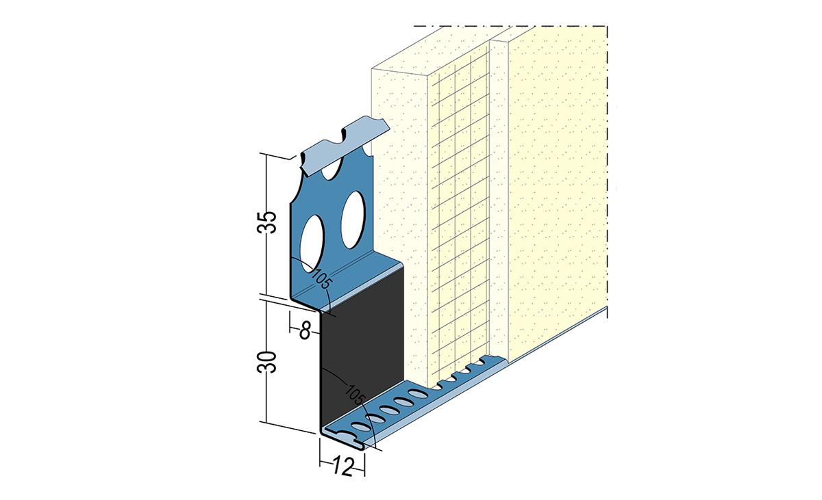 Protektor Metallanschlussprofil 2765 Anwendungszeichnung