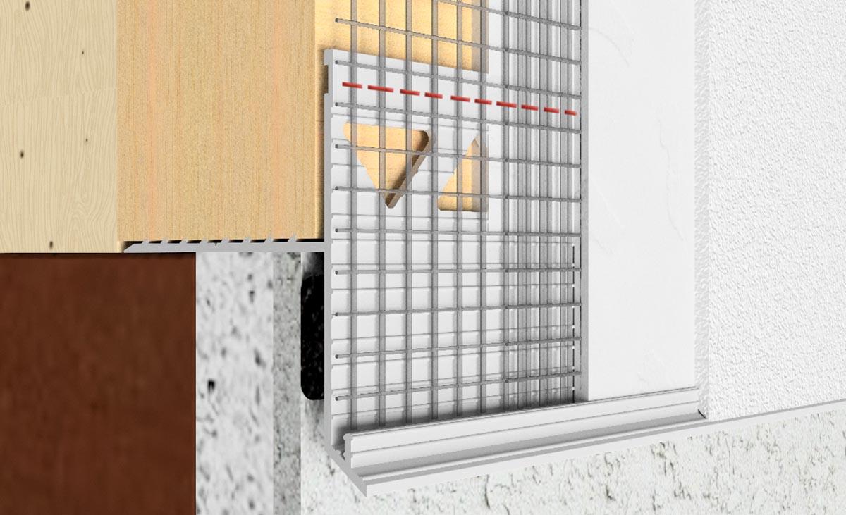 Gleitlagerfugen-Kombination für Wärmedämmverbundsysteme