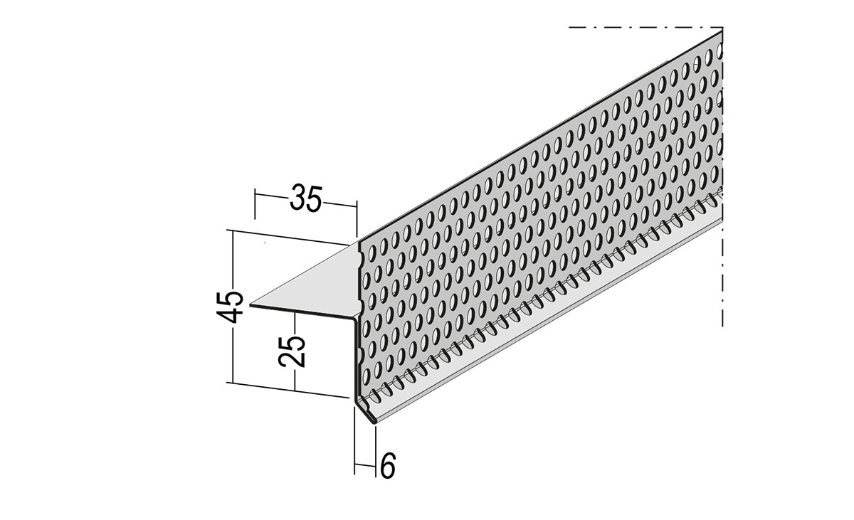 Protektor Lösung einteiliges Gleitlagerfugenprofil 9540