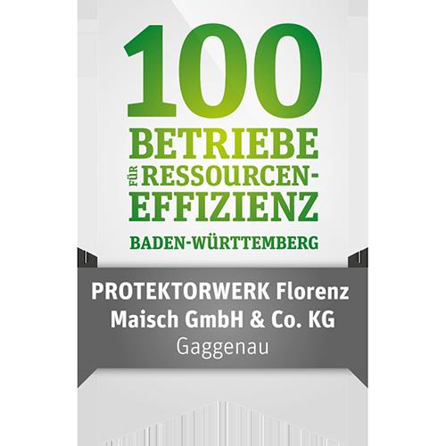 100 Betriebe für Ressourceneffizienz Protektor