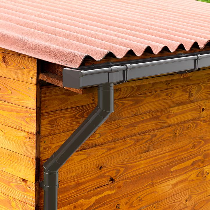 Gartenhütte mit Dachrinne von Protektor