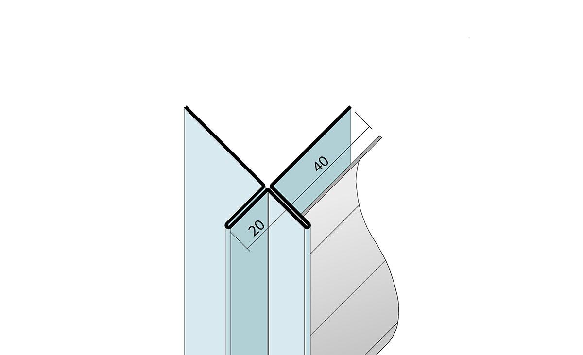 Lüftungswinkel mit Ovallochung beidseitig