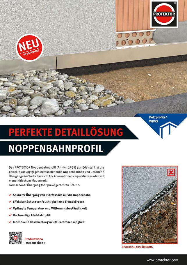 Flyer Noppenbahnprofil