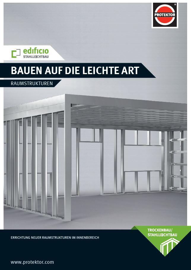 Flyer Edificio Stahlleichtbau, Raumstrukturen