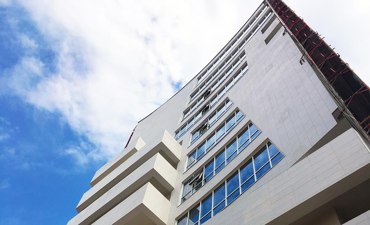 Geschwungene WDVS-Fassade