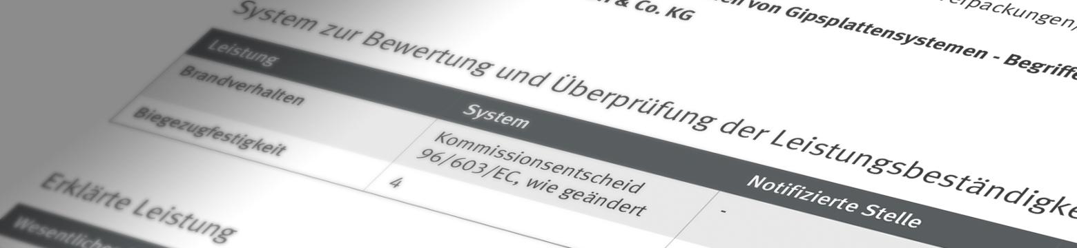 Leistungserklärung nach EN BauProdVO 305-2011