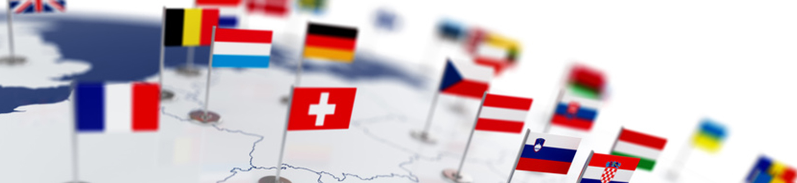 Landkarte mit Flaggen
