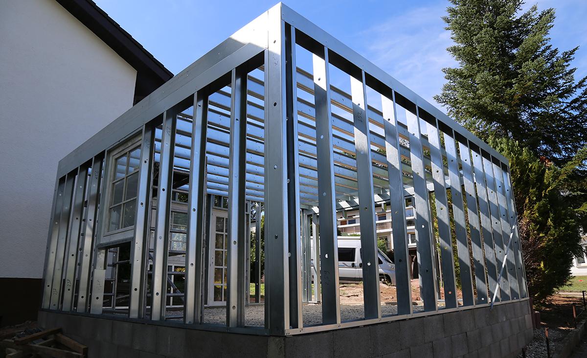 Konstruktion Individualgarage Stahlleichtbau edificio