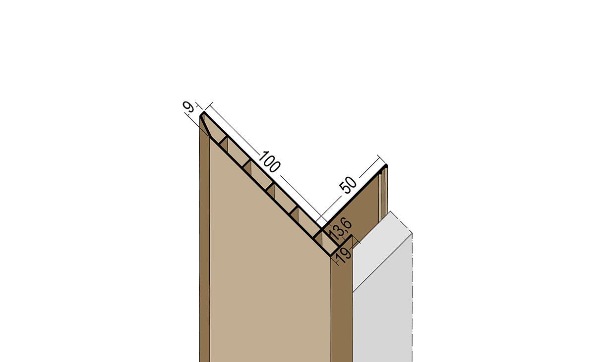 Anschlussprofil mit Schnittkantenüberdeckung