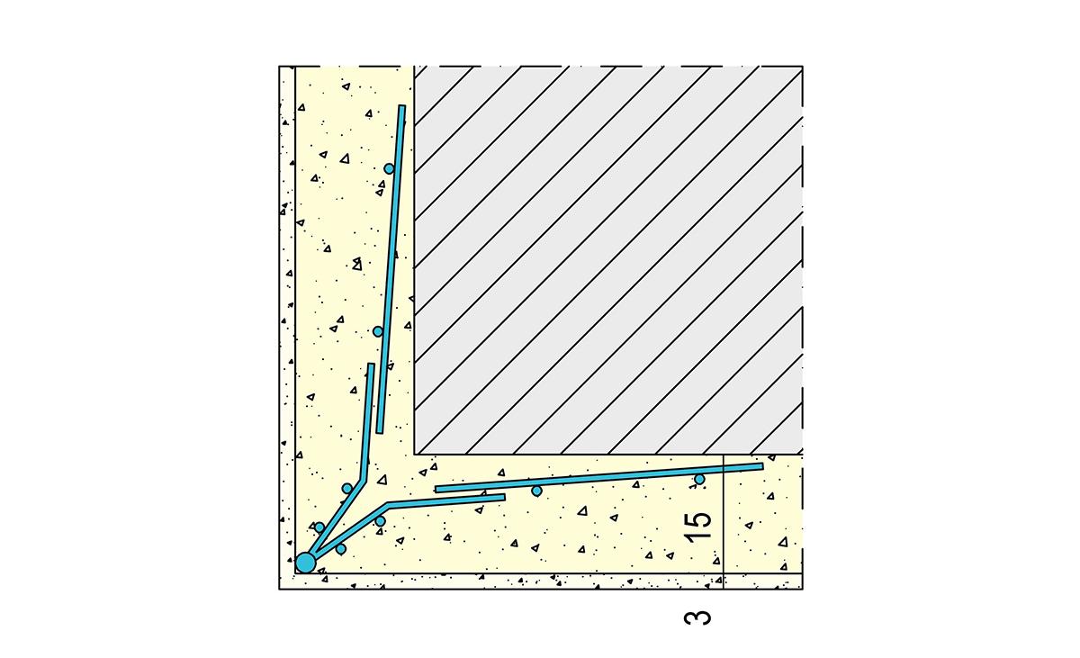 Zeichnung Anwendung Protektor Drahtrichtwinkel