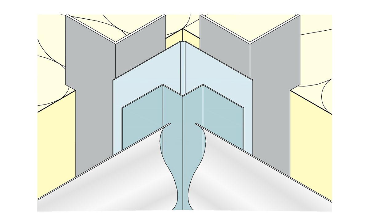 Kantenprofil für Innenecken Anwendung Beispiel