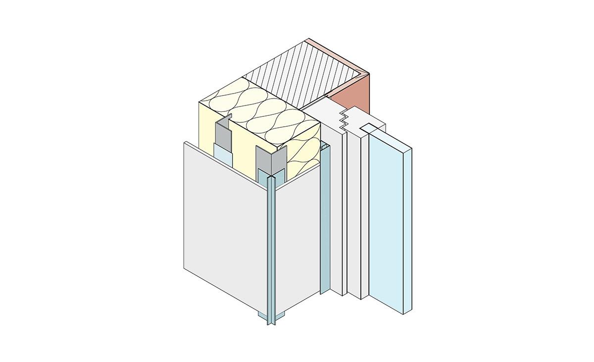 Protektor Fassadengestaltung mit F-Profil