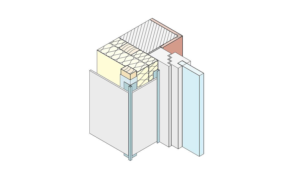 Protektor Fassadengestaltung mit U-Profilen