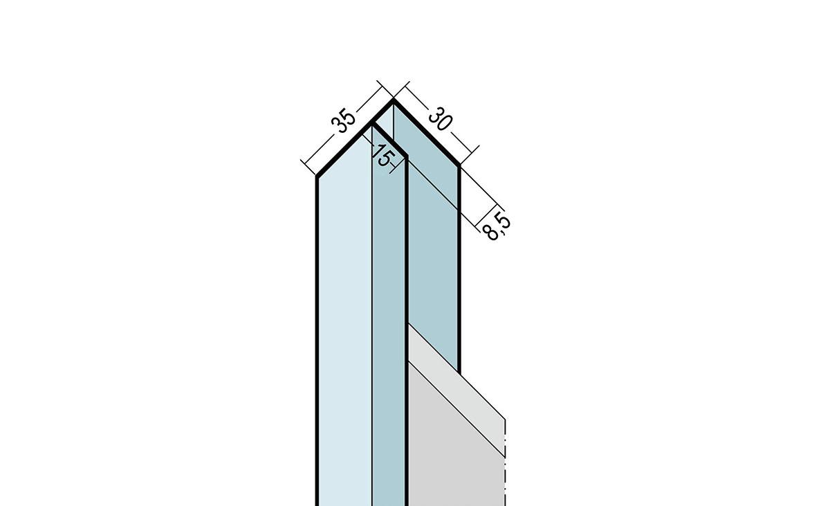 Laibungsprofil U-Profil aus Aluminium
