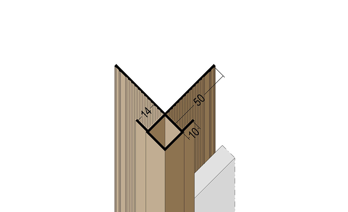 Kantenprofil mit Schnittkantenüberdeckung aus PVC