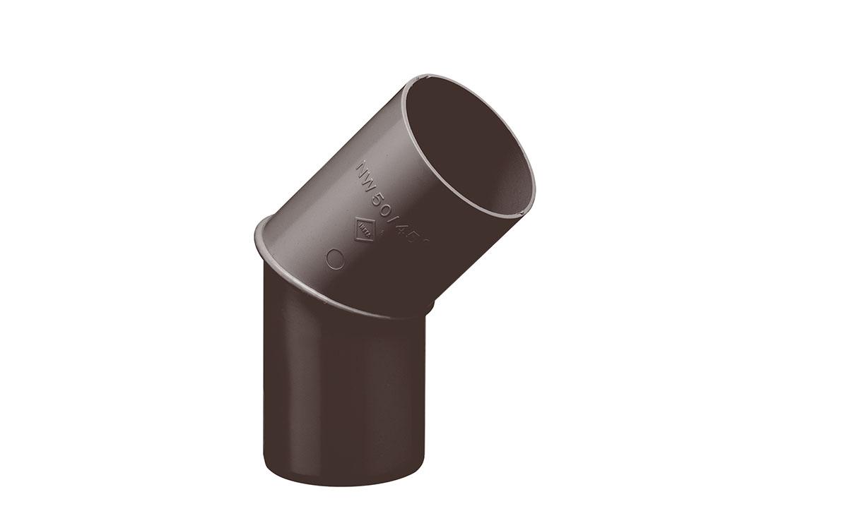 Rohrbogen in 45°, Farbe Braun