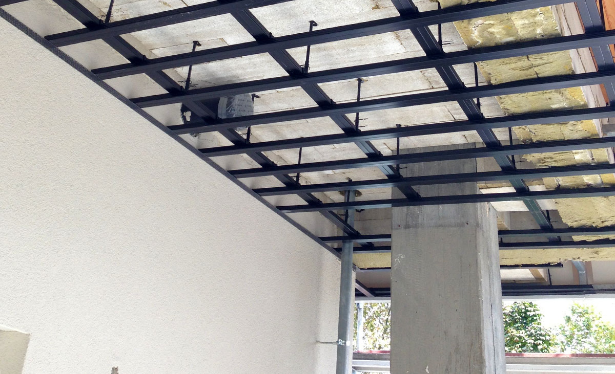 korrosionsgeschützte Decken-Unterkonstruktion C3 von Protektor