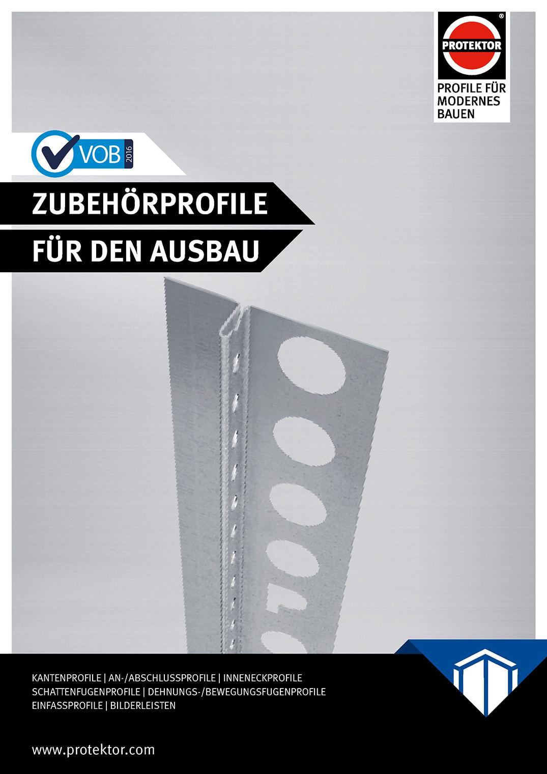 Katalog VOB Zubehörprofile für den Ausbau