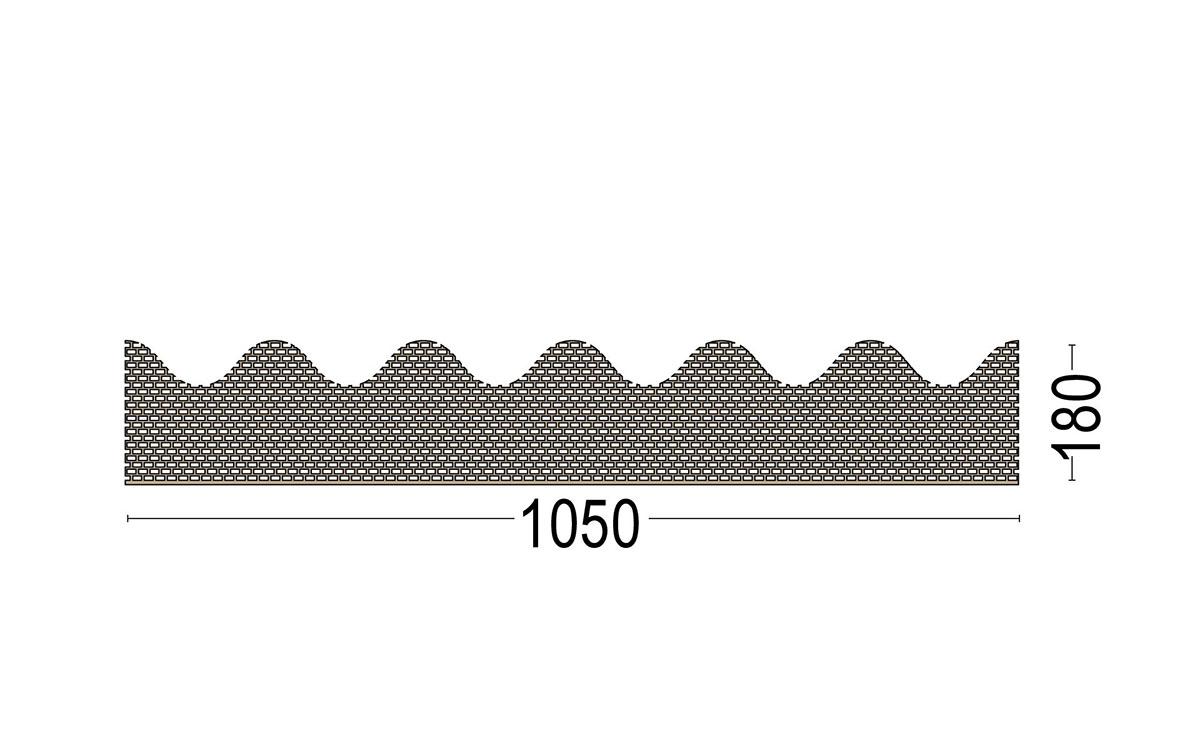 Traufenbelüftungsprofil 3687 für Wllplattenprofil 5 Berliner Welle
