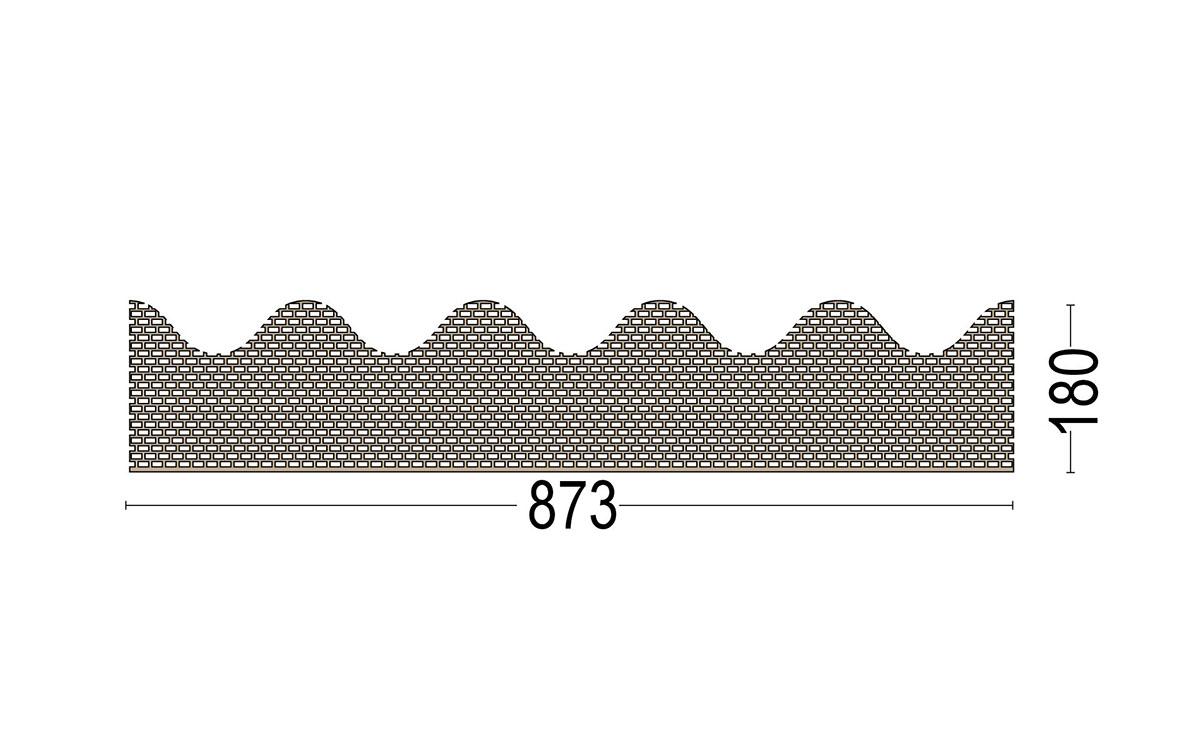 Traufenbelüftungsprofil für Wllplattenprofil 5 Berliner Welle