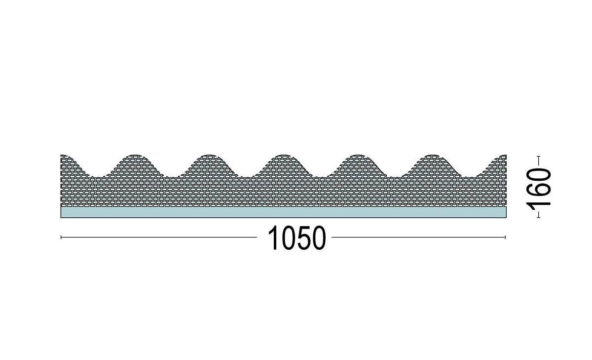 Traufenbelüftungsprofil für Wllplattenprofil 6